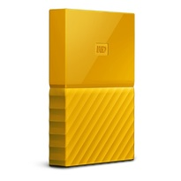 WD 2TB My Passport Portable Hard Drive with password protection and auto backup software Yellow