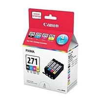 Canon CLI-271 Black + C/M/Y Ink Value Pack