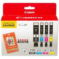 Canon PGI-250 / CLI-251 Black and Colour Ink Cartridge Value Pack
