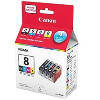 Canon CLI-8 Black and Colour Ink Cartridge Value Pack