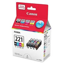 Canon CLI-221 Black and Color Ink Cartridge Value Pack