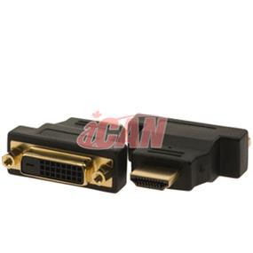 iCAN Premium Quality Low Noise HDMI Male to DVI Female Adapter Gold Plated (ADP HDMIM-DVIF)