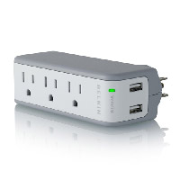 Belkin Mini Surge Protector with USB Charger - 3 Outlet, Wall Mount, 2 USB Charge Ports (BZ103050-TVL)