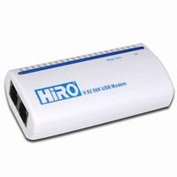 HiRO V.92 56K External USB Data Fax Voice Modem, Vista Compatible, RoHS Compliance, Lucent Chipset