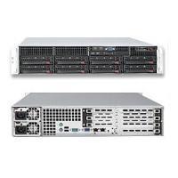 Supermicro SuperServer 6026T-URF Black (Barebone) 2U Q-CORE XEON5500 INTEL5520 12DIMMS UIO 8X2.5