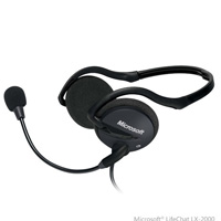 Microsoft (2AA-00012) LifeChat LX-2000 Behind Neck Design, Stereo Headset