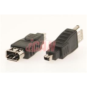iCAN Firewire  (1394) 6-pin Female/4-pin Male Adapter (ADP 1394-6F4M)