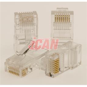 iCAN RJ45 Cat5e 50 Micron Connector Plugs 10 pcs (CON STC5E-3010)