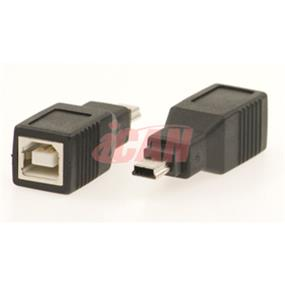 iCAN Converts USB B Female to Mini B 5-pin Male for Cell Phone/D.Camera (ADP USBBF-MB5M)
