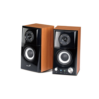 Genius SP-HF500A 2-Way Hi-Fi 14W Wood Speakers| Powered by AC outlet