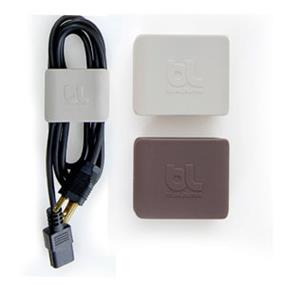 Bluelounge Cableclip Cable Organizers Large, One Light Grey and One Dark Grey (CC-LG)