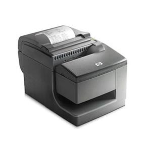 HP Hybrid Thermal Receipt Printer, Multifunctional with MICR, 203dpi, Mono, USB, Gray (FK184AA)| with Magentci Stripe Reader, Auto Cut