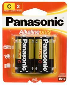 Panasonic Alkaline Plus Battery C-2(2 Packs)