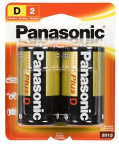Panasonic Alkaline Plus Battery D-2(2 Packs)