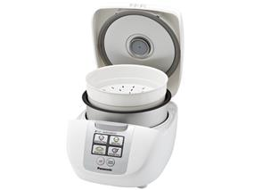 Panasonic SRDF101 1.0 Litre 5 Cup Microcomputer Controlled Rice Cooker with Fuzzy Logic Technology - White (SRDF101)   750W , One Touch Cooking , 6 Cooking Options , Keep Warm