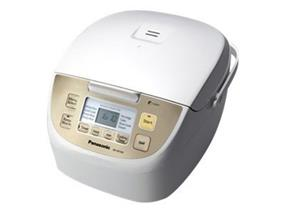 Panasonic SRDE103 1.0 Litre 5 Cup Microcomputer Controlled Rice Cooker with Fuzzy Logic Technology - White (SRDE103) | 750W , 24 Hour Preset Timer , 8 Cooking Options , Keep Warm