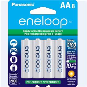 Panasonic Eneloop AA-8 1.2V Ni-MH 2000mAh BK3MCCA8BA