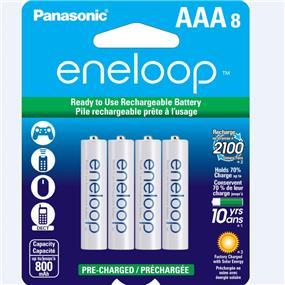 Panasonic Eneloop AAA-8 1.2V Ni-MH 800 mAh BK4MCCA8BA
