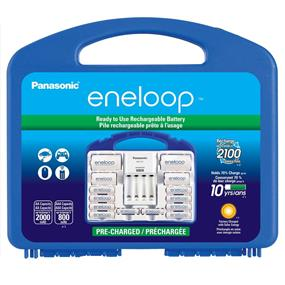 Panasonic Eneloop Smart Charger Kit with 8-AA, 2AAA,2-C, 2-D adaptors in a carrying case (KKJ17MCC82A)