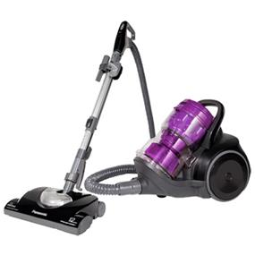 "Panasonic MCCL935 Bagless JetForce Canister Vacuum Cleaner - Black & Purple (MCCL935) | JetForce Cyclonic Filtration , Dust Compression , 12-Amp Motor , 14"" Cleaning Path , Bare Floor Option"