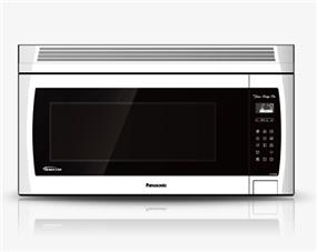 Panasonic NNSE284W 2.0 cu. ft. Genius Prestige Plus Inverter 420 CFM Over-the-Range OTR Microwave Oven - White (NNSE284W) | 1100W, Super Quiet , Glass Touch Keypad