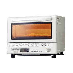 Panasonic NBG110PW FlashXpress Toaster Oven with Double Infrared Heating - White (NBG110PW) | 1300 W, 6 Pre-Set Cooking Modes , Digital Timers , Quick Baking without Pre-heating