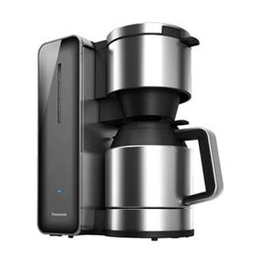 Panasonic NCZF1H 8 Cup Paperless Filter Operation Coffee Maker / Tea Brewer - Grey (Open Box/Open Box Only) | Stainless Steel / Transparent Glass , 3 Aroma Selections , LED Indicator , Cool Touch Exterior , Auto Shut Off
