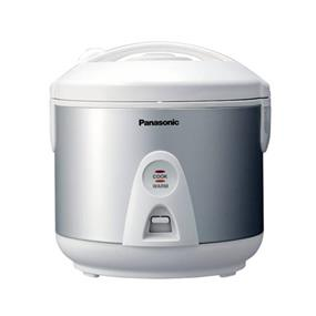 Panasonic SRTEG18 1.8 Litre 10 Cup One Step Automatic Rice Cooker with Steaming Feature - Silver (SRTEG18) | 630W , Auto Rewind Power Cord , Keep Warm