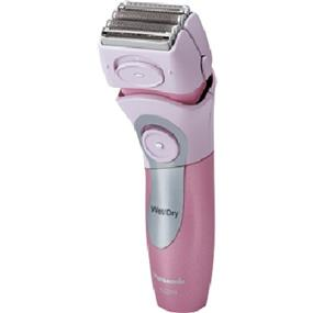 Panasonic ES2216PC Hypo-Allergenic Blade Cordless Rechargeable Wet / Dry Women's Shaver with Bikini Attachment - Silver & Pink (ES2216PC) | Four Floating Head System , Pop-up Trimmer