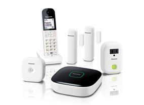 Panasonic KXHN6003 Monitoring & Control Kit with one Hub, two Window/Door sensors, one Motion Sensor, one Smart Plug and one Digital Cordless Handset