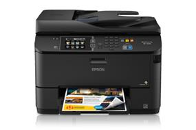 Epson WorkForce Pro WF-4630 All-in-One Printer | Black: 20 ISO ppm, Color: 20 ISO ppm, 4800 x 1200 dpi | Hi-Speed USB/Wireless (802.11 b/g/n)4/Wired Ethernet (10/100/1000 Mbps)/Wi-Fi Direct4 Connectivity