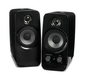 Creative Inspire T10 -- 2.0 Speaker System - Black (51MF1601AA000) - (Retail Box)  Powered by AC outlet