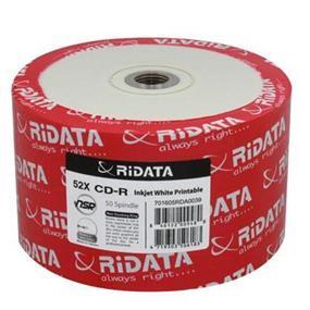 RiDATA CD-R 52X 80 min 700MB White Inkjet Hub Printable 50 Packs (R80JS52-RD-IWN50)