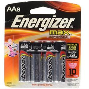 Energizer Max 8xAA Alkaline Battery (E91BP8)