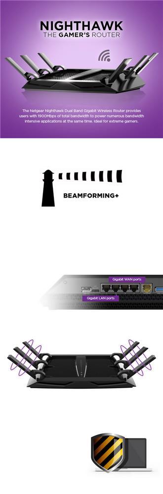 Netgear AC3200 R8000 Nighthawk X6 Tri-Band WiFi Router | Canada