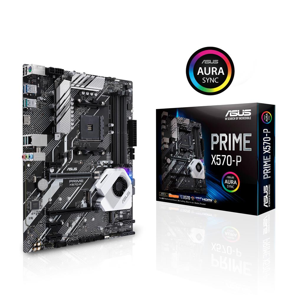 ASUS PRIME X570-P AMD AM4 ATX motherboard with PCIe 4 0