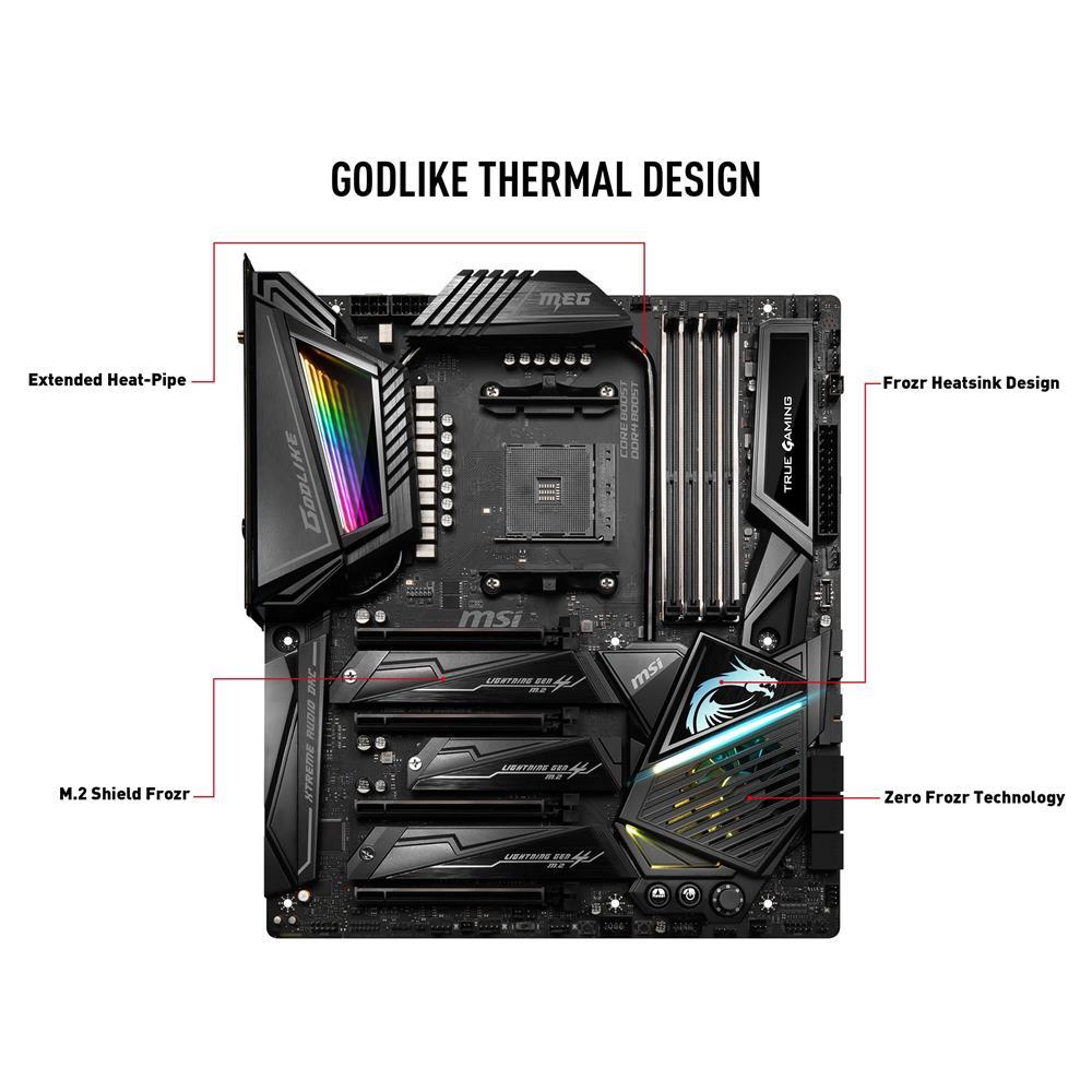 MSI MEG X570 GODLIKE Flagship AMD Motherboard | Canada