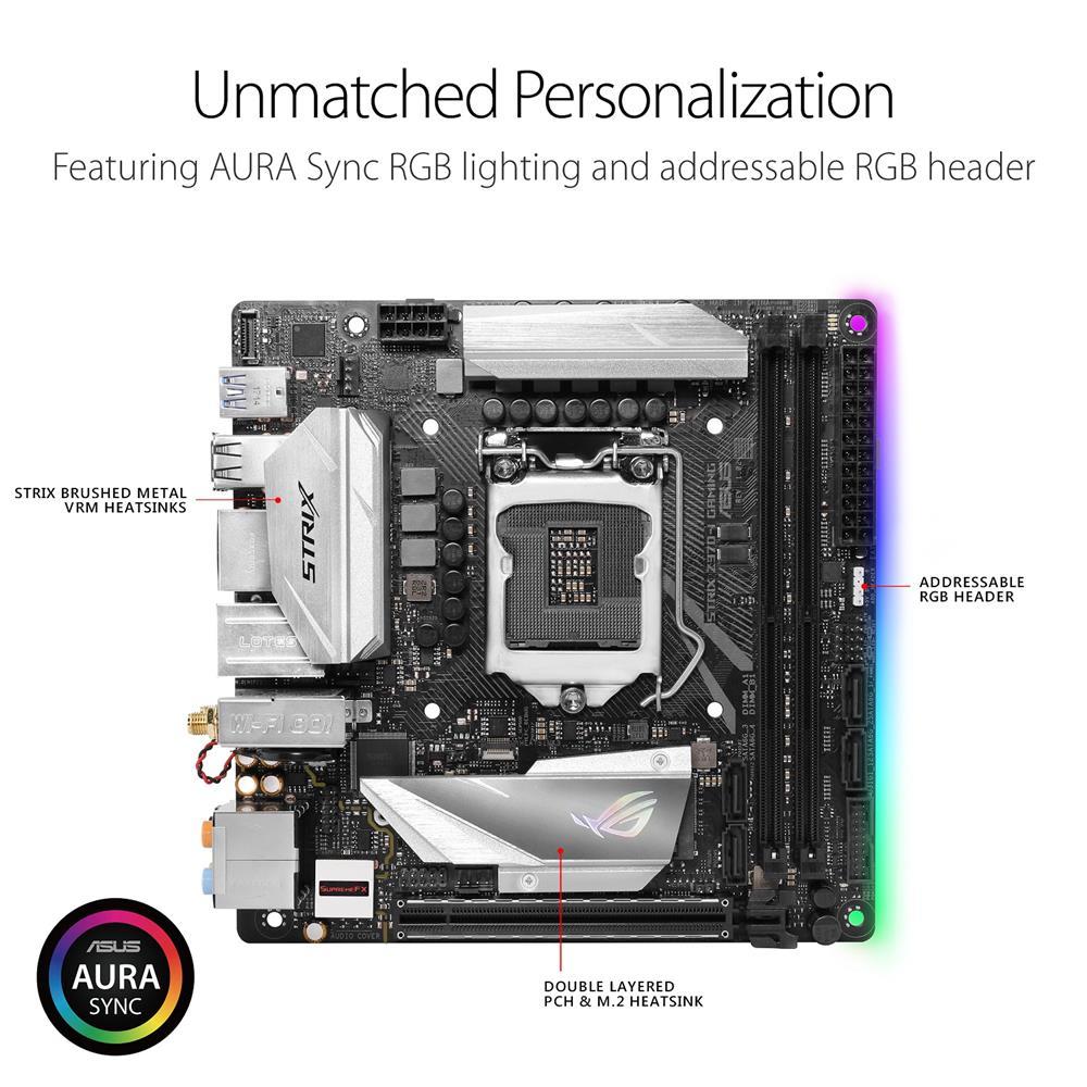 ASUS ROG Strix Z370-I GAMING LGA 1151 (8th Gen CPU Only) Intel Z370