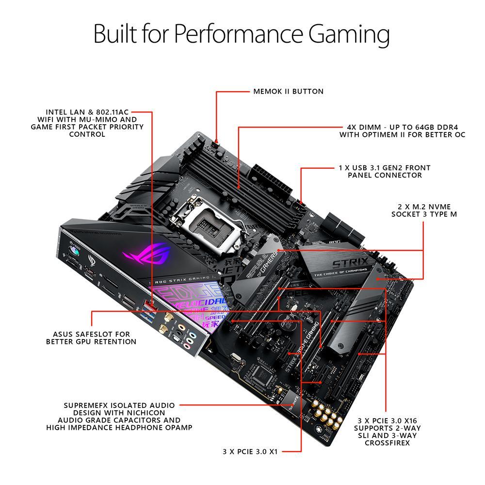 ASUS ROG Strix Z390-E Gaming Motherboard LGA1151 (Intel 8th