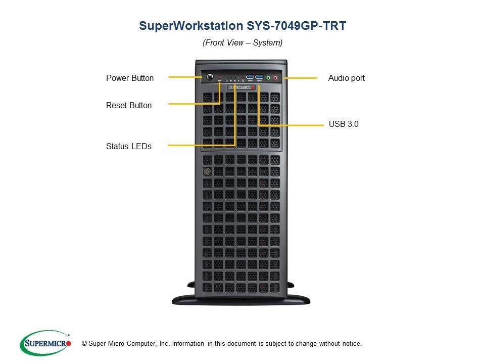 SuperMicro Special-built Dual Xeon Silver 5115 10-Core GPU