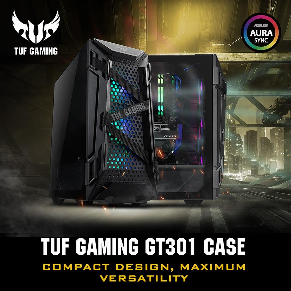 ASUS TUF Gaming GT301 Mid-Tower Compact Case for ATX Motherboards ...