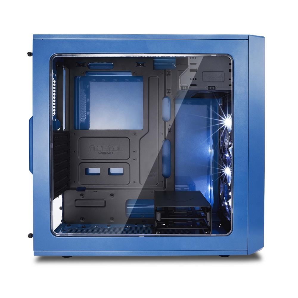 Fractal Focus G No Power Supply ATX Mid Tower w// Window Petrol Blue