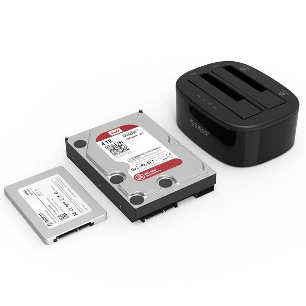 ORICO Tool Free 2 5'' & 3 5'' SATA HDD/SSD USB 3 0 Dual Bay
