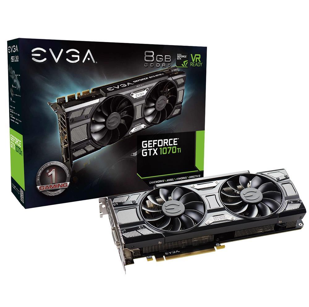 EVGA GeForce GTX 1070 Ti SC Gaming ACX 3 0 Black Edition 8GB GDDR5
