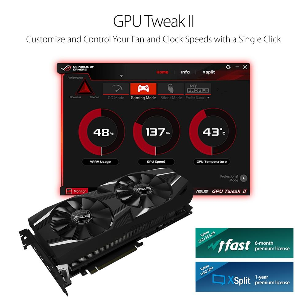 ASUS DUAL RTX2080 8G VR Ready Gaming Graphics Card   Canada