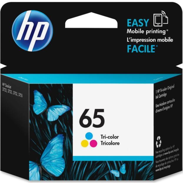 HP 65 Tri-colour Original Ink Cartridge (N9K01AN)   Canada
