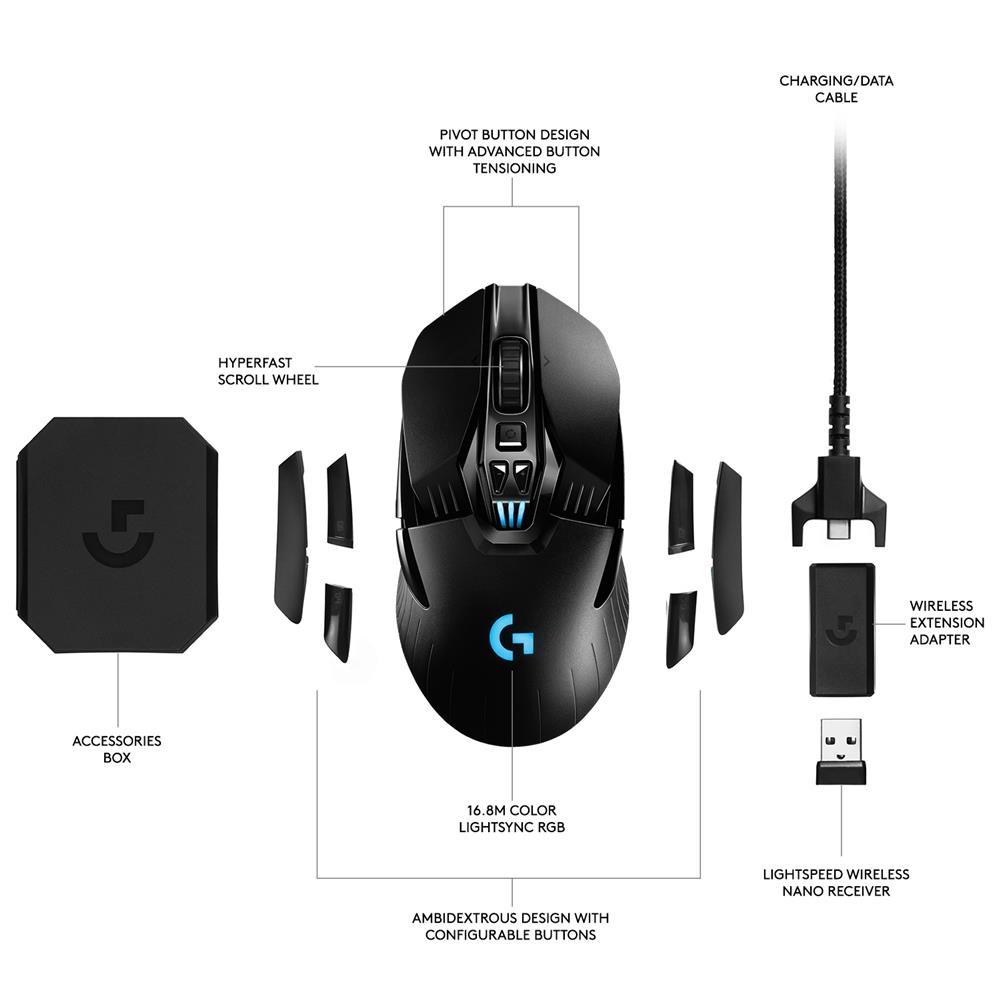 Logitech G903 LIGHTSPEED Wireless Gaming Mouse with HERO 16K