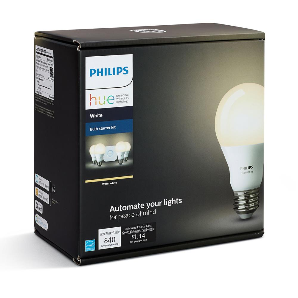 Philips Hue White A19 Starter Kit (4 Pack) | Canada