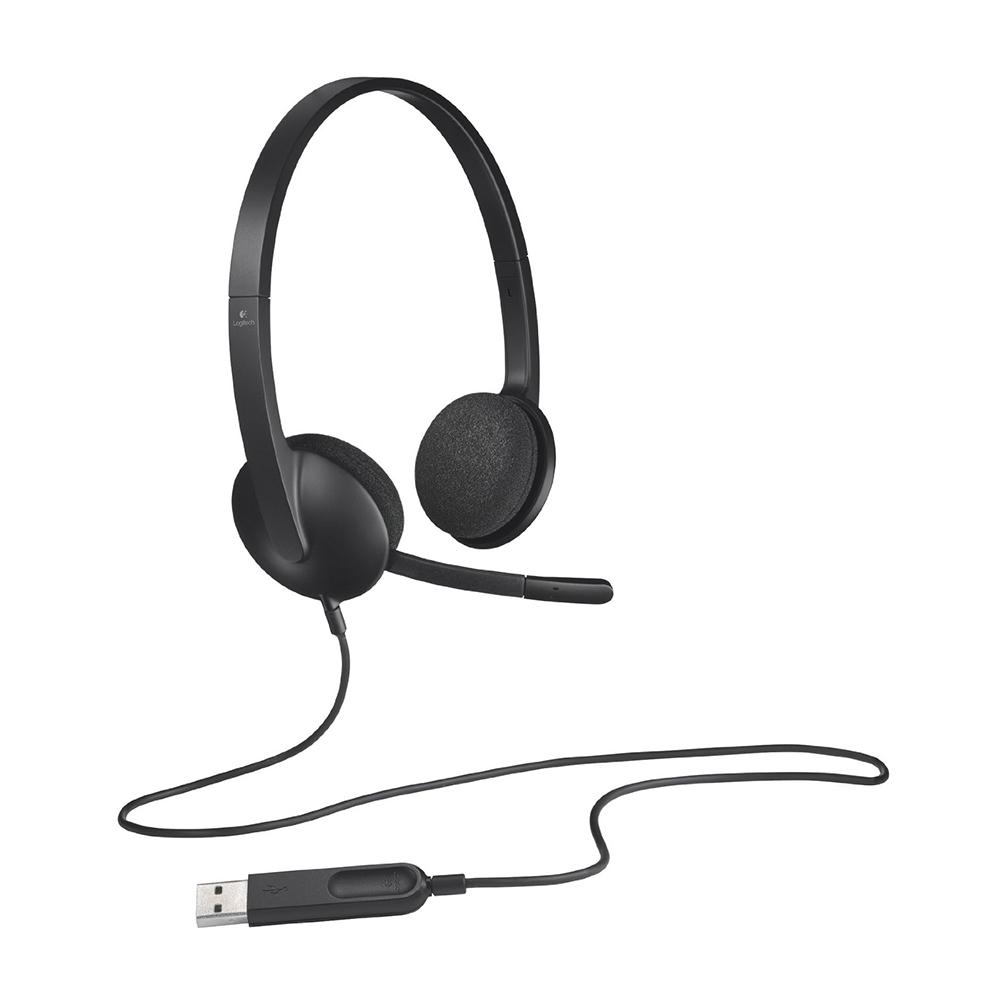 Logitech H340 USB PC Headset Black 981-000507   Canada Computers