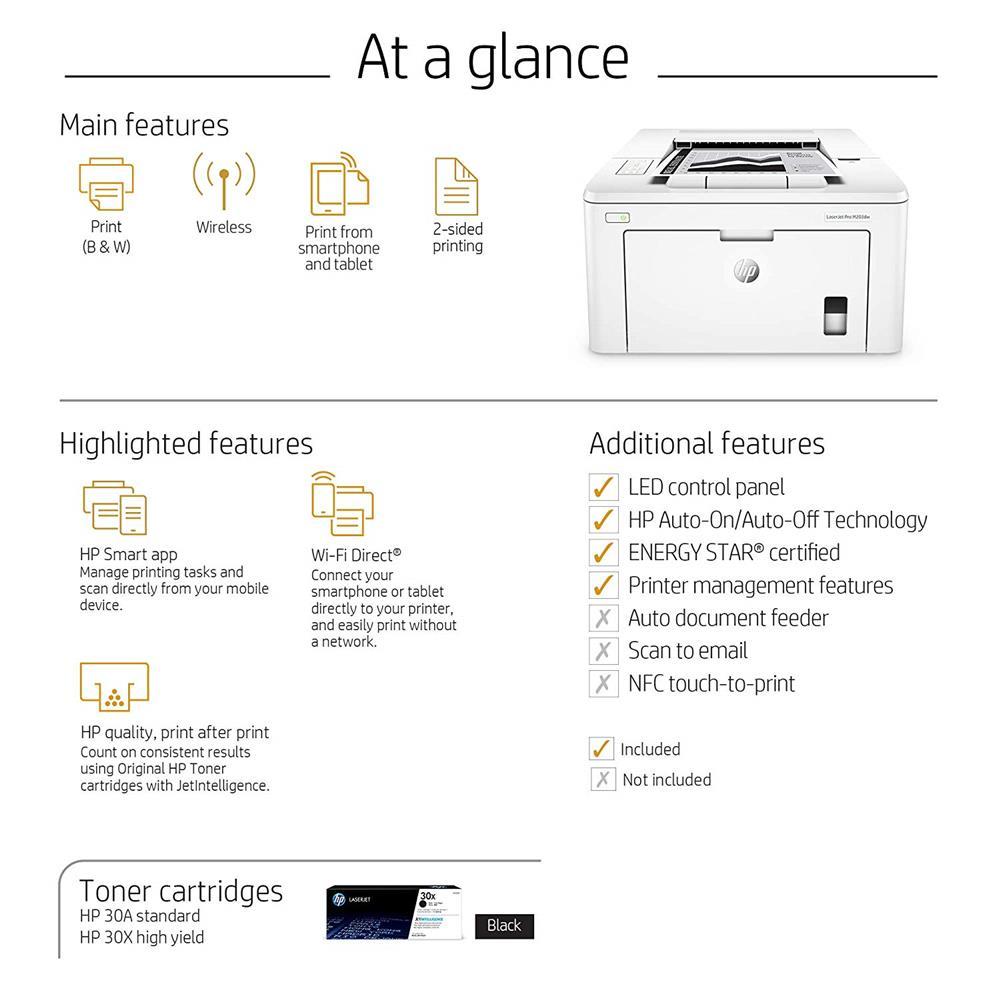HP LaserJet Pro M203dw Monochrome Laser Printer | Canada